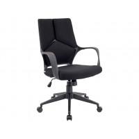 Кресло Trio Black ткань черная низкая спинка