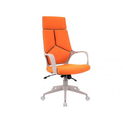 Кресло Trio Grey ткань оранжевая